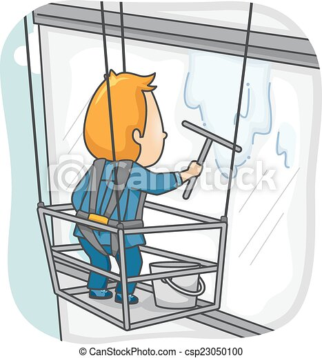 how to clean highrise windows