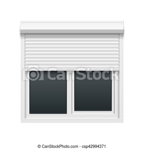 Window with rolling shutters - csp42994371
