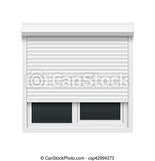 Window with rolling shutters - csp42994373