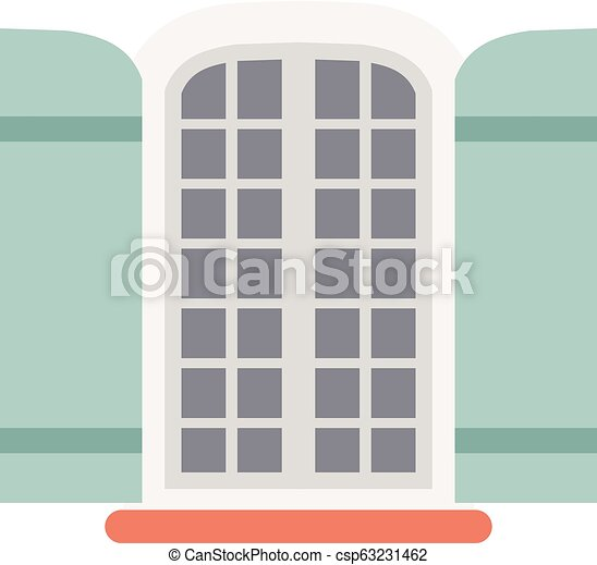 Window with shutters. - csp63231462