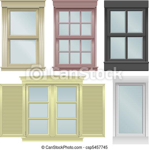 Cinco ventanas - csp5457745