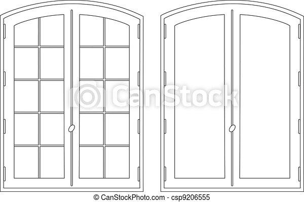 Dibujando dos ventanas - csp9206555