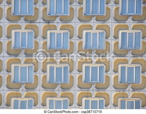 Windows in a modern house. - csp38710719