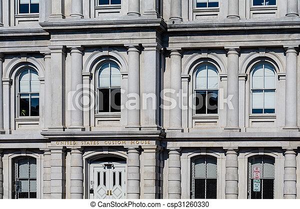 Windows in Customs House - csp31260330