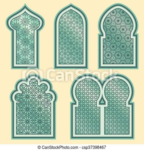 Ventanas árabes o islámicas - csp37398467