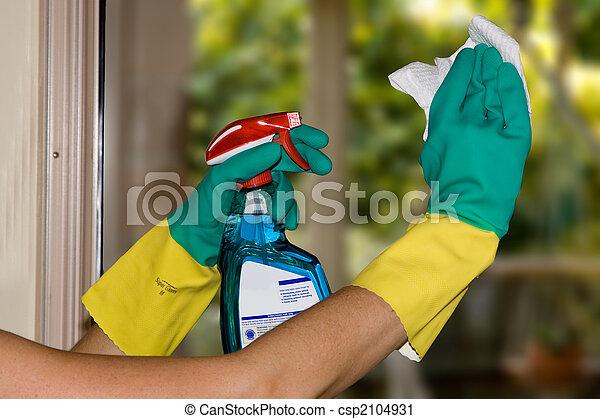 Limpiando ventanas - csp2104931
