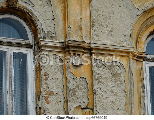 Windows of an Old Building - csp66769049