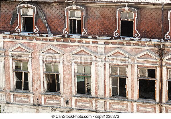 Windows of old building - csp31238373
