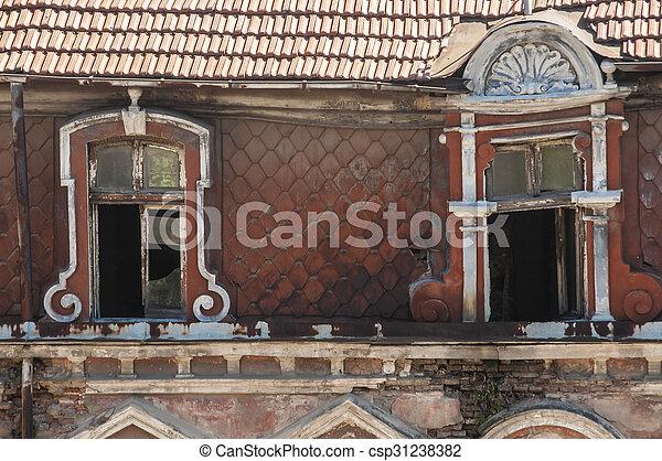 Windows of old building - csp31238382