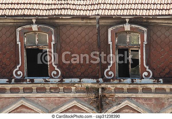Windows of old building - csp31238390