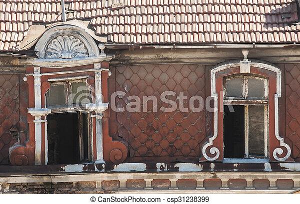 Windows of old building - csp31238399