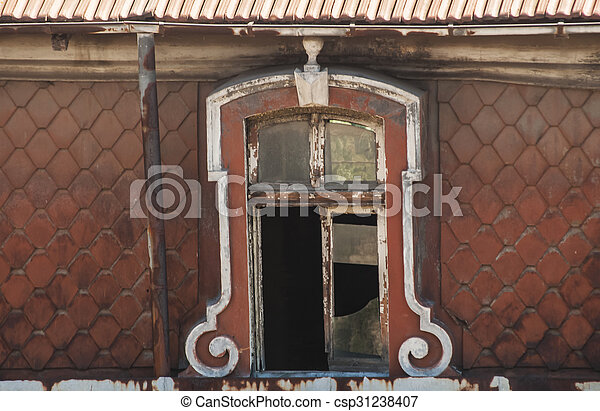 Windows of old building - csp31238407