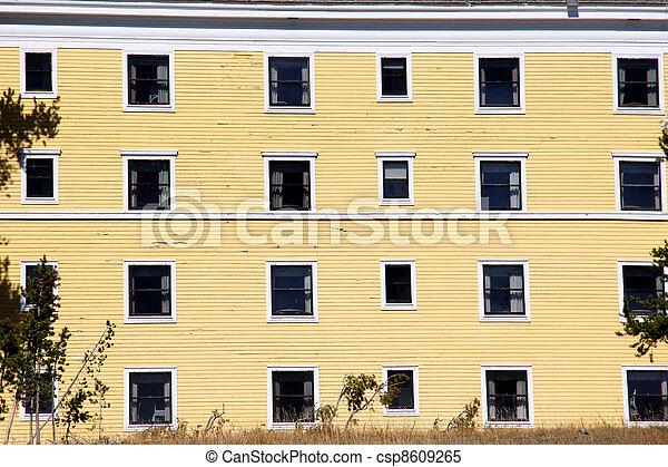 Windows on old building - csp8609265