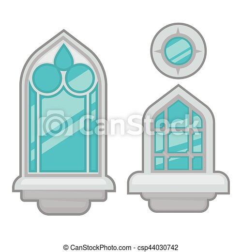 Una colección de ventanas de varios tipos. - csp44030742