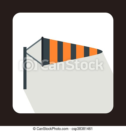 Windsock icon in flat style - csp38381461