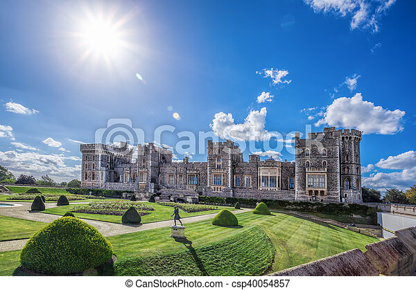 Windsor castle with garden near London, United Kingdom - csp40054857