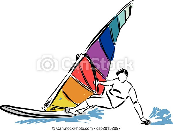 Windsurf Illustration Eps Vectors