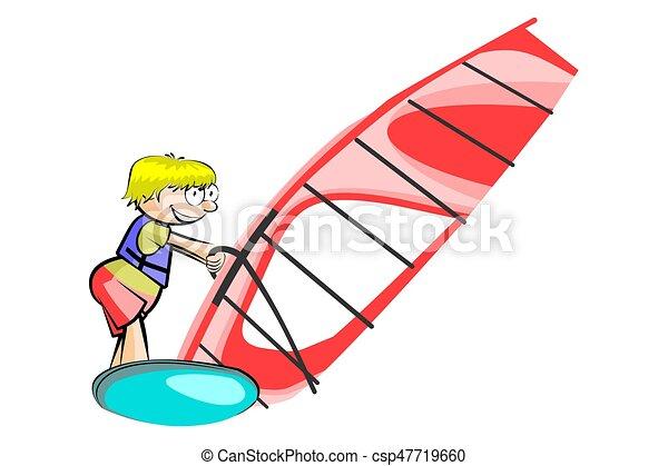 windsurf illustration isolated on white background clip art rh canstockphoto com