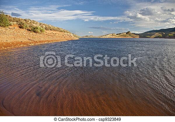 windy mountain lake - csp9323849