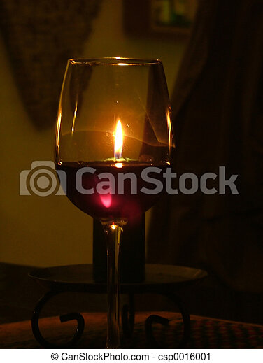 Wine and candle - csp0016001