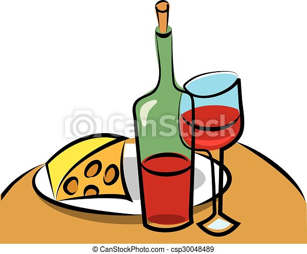 wine and cheese rh canstockphoto com french wine and cheese clipart french wine and cheese clipart