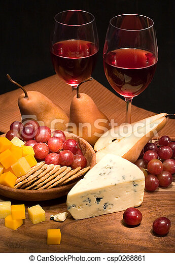 Wine and Cheese - csp0268861