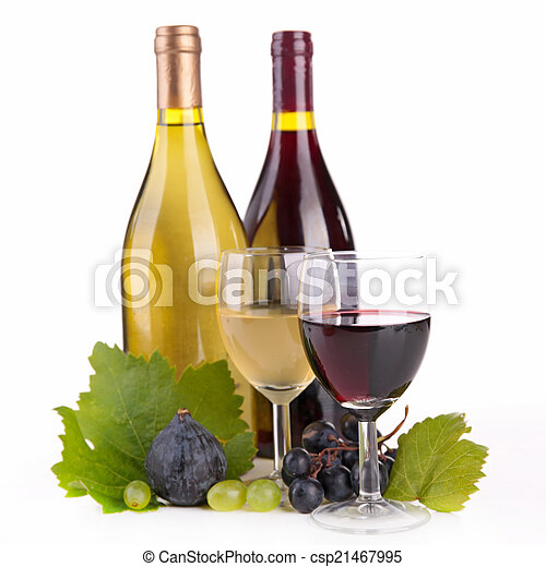 wine and grapes - csp21467995