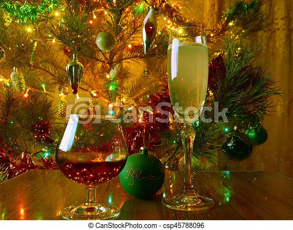Christmas Liquor.Wine And Strong Liquor