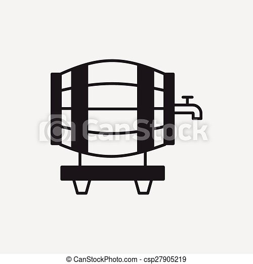 wine barrel icon - csp27905219