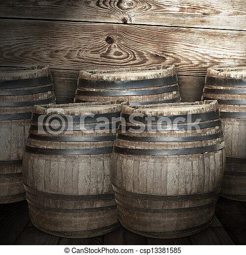 Wine barrel - csp13381585