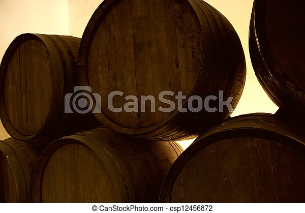 Wine barrels. - csp12456872