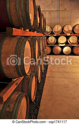 Wine barrels - csp1741117