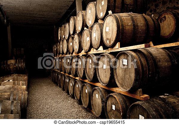 Wine barrels - csp19655415