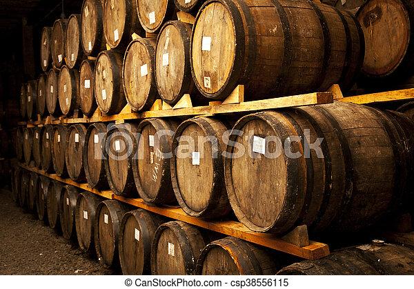 Wine barrels - csp38556115