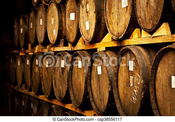 Wine barrels - csp38556117