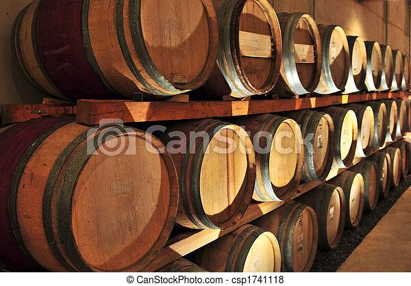 Wine barrels - csp1741118