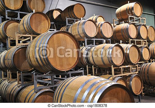 Wine barrels - csp1808378