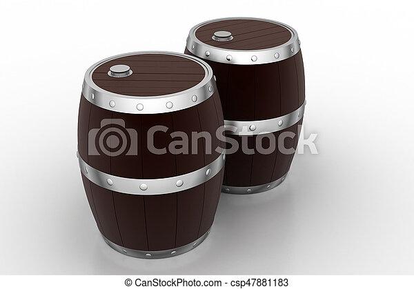 Wine Barrels - csp47881183