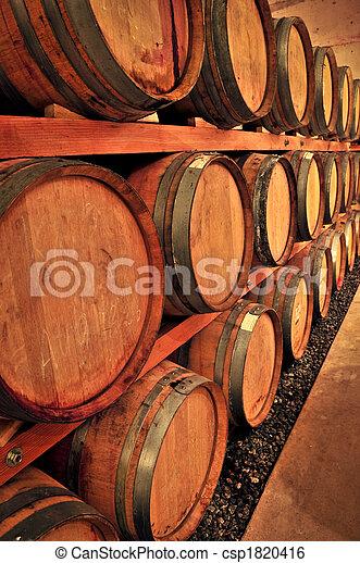 Wine barrels - csp1820416