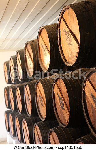 Wine barrels - csp14851558