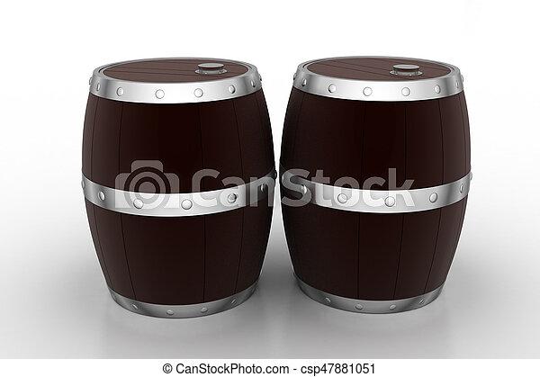 Wine Barrels - csp47881051