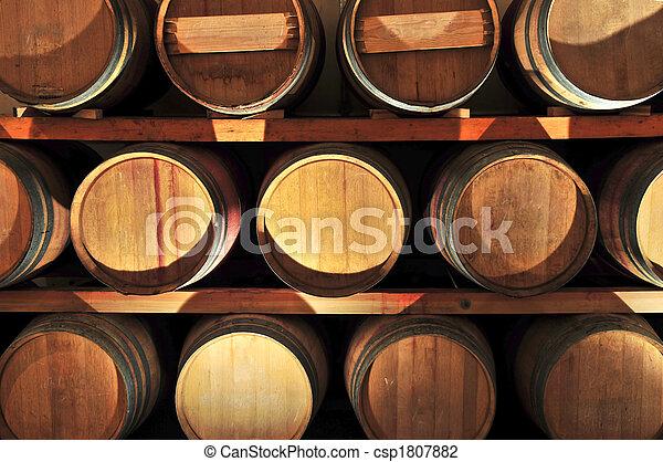 Wine barrels - csp1807882