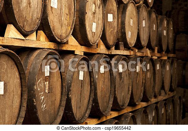 Wine barrels - csp19655442