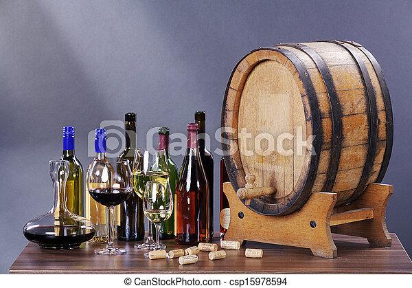 wine barrels - csp15978594