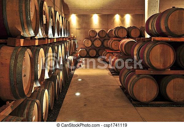 Wine barrels - csp1741119