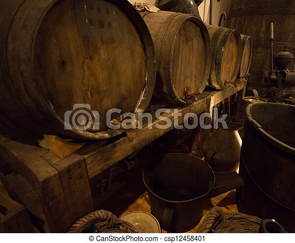Wine barrels - csp12458401