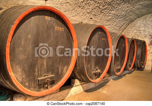 Wine barrels - csp2087140