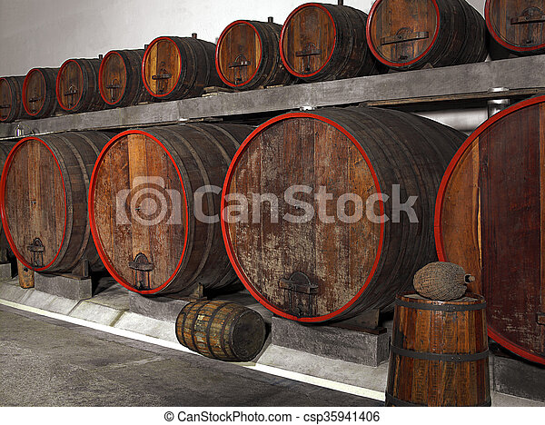 wine barrels - csp35941406