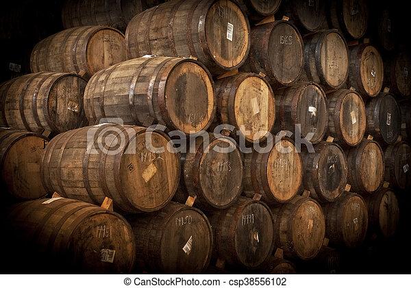 Wine barrels - csp38556102