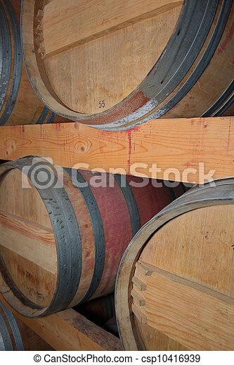 Wine barrels - csp10416939